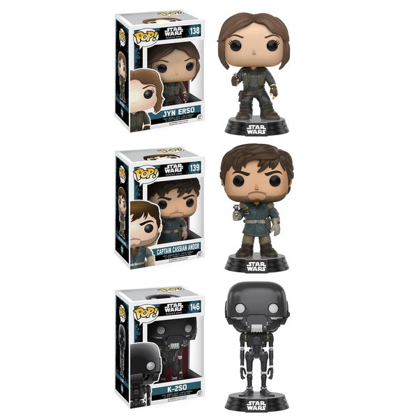 Funko Star Wars: POP! Rogue One Jyn Erso, Captain Cassian Andor, K-2SO Collectors Set #1