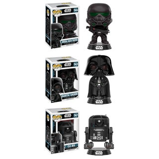 Funko Star Wars: Rouge One POP! #2 Collectors Set with Imperial Death Trooper, Darth Vader, C2-B5