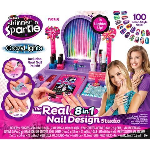 Cra-Z-Art Shimmer 'N Sparkle Crazy Lights The Real 8-in-1 Nail Design Studio