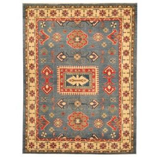 Handmade Kazak Wool Rug (Afghanistan) - 5'1 x 6'7