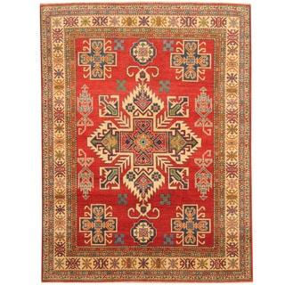 Herat Oriental Afghan Hand-knotted Tribal Kazak Wool Rug (5'3 x 6'10)