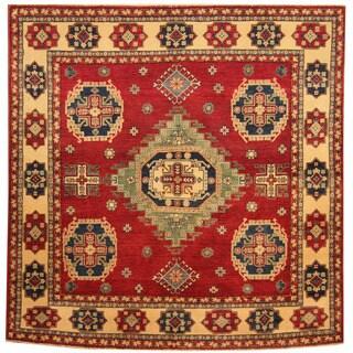 Herat Oriental Afghan Hand-knotted Tribal Kazak Wool Rug (6'2 x 6'4)