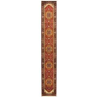 Handmade Herat Oriental Indo Serapi Wool Runner (India)