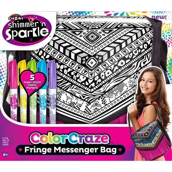 Cra-Z-Art Shimmer 'N Sparkle Color Craze Fringe Messenger Bag Kit