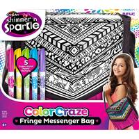 Cra-Z-Art Shimmer 'N Sparkle Color Craze Fringe Messenger Bag Kit