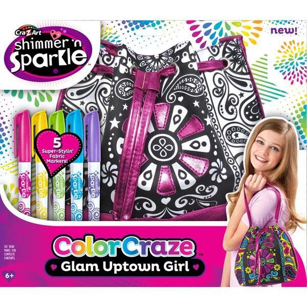 Cra-Z-Art Shimmer 'N Sparkle Color Craze Glam Uptown Girl Tote Kit