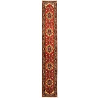 Herat Oriental Indo Hand-knotted Serapi Wool Runner (2'7 x 16'6)