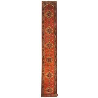 Herat Oriental Indo Hand-knotted Serapi Wool Runner (2'6 x 20')