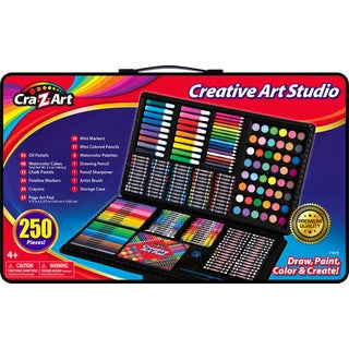 Cra-Z-Art 250-piece Draw, Paint, Color, and Create Creative Art Studio