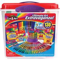 Cra-Z-Art Multicolored Plastic 130-piece Ultimate Art Extravaganza Tub
