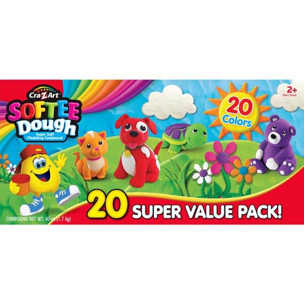 Cra-Z-Art Softee Dough Super Soft 20-pack Modeling Compound