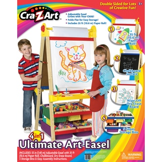 Cra-Z-Art 4-in-1 Wood Double-sided Ultimate Art Easel