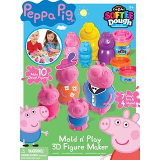 Cra-Z-Art Peppa Pig Softee Dough Mold 'n' Play 3D Figure Maker