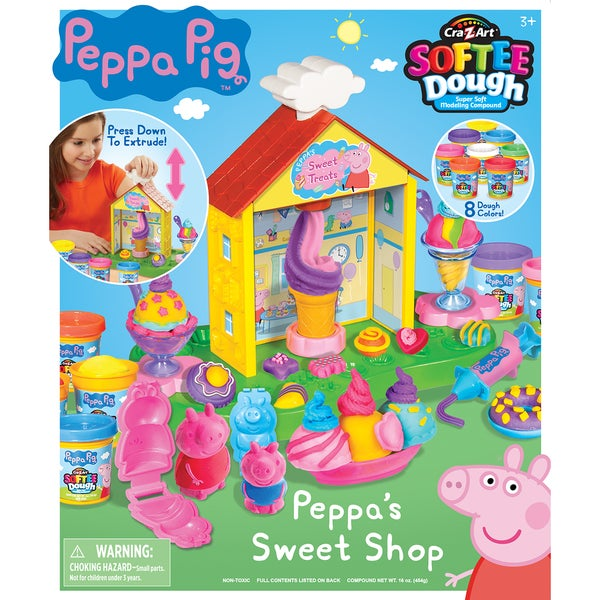 Cra-Z-Art Peppa Pig Softee Dough Peppa's Sweet Shop Modeling Dough Kit