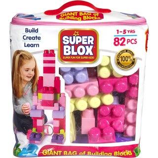 Cra-Z-Art Super Blox Multicolor Plastic 82-piece Girls' Building Block Kit