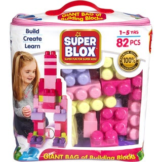 Cra-Z-Art Super Blox Multicolor Plastic 82-piece Girls' Building Block Kit