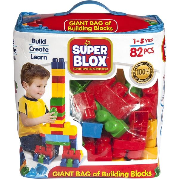 Cra-Z-Art Super Blox Multicolor Plastic 82-piece Building Block Kit