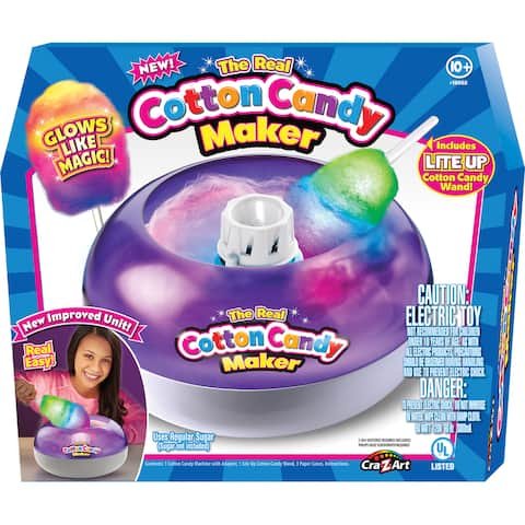 Cra-Z-Art Deluxe Cotton Candy Maker with Lite Up Cotton Candy Wand