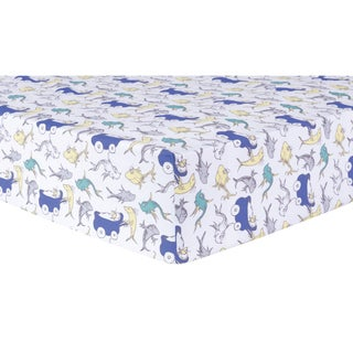 Dr. Seuss 'New Fish' Fitted Crib Sheet