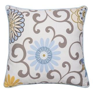 Waverly Baby by Trend Lab Pom Pom Spa Blue Microplush 16-inch Decorative Pillow