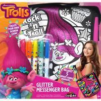 Cra-Z-Art Trolls Design Your Own Glitter Messenger Bag Kit