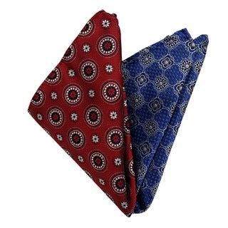 Dmitry Men's Italian Silk Pocket Squares (Set of 2)