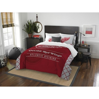 The Northwest Company NHL Detroit Red Wings Draft Full/ Queen 3-piece Comforter Set