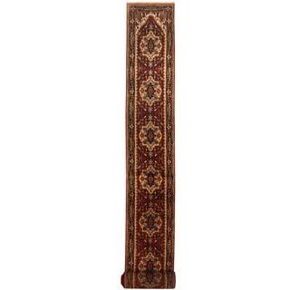 Herat Oriental Indo Hand-knotted Serapi Wool Runner (2'8 x 30')