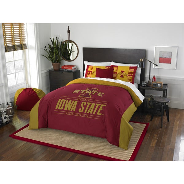 The Northwest Co COL 849 Iowa State Modern Take Full/Queen 3-piece Comforter Set