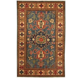 Herat Oriental Afghan Hand-knotted Tribal Kazak Wool Rug (3'3 x 5'2)