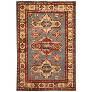 Herat Oriental Afghan Hand-knotted Tribal Kazak Wool Rug (4' x 6'1)