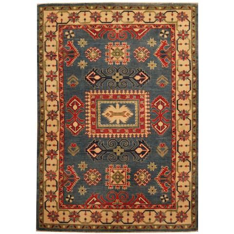 Handmade One-of-a-Kind Kazak Wool Rug (Afghanistan) - 4'3 x 6'