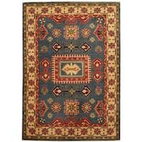 Herat Oriental Afghan Hand-knotted Tribal Kazak Wool Rug (4'3 x 6') - 4'3 x 6'