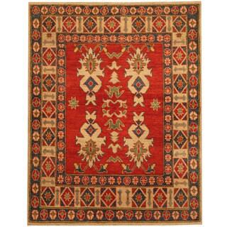 Herat Oriental Afghan Hand-knotted Tribal Kazak Wool Rug (4'1 x 5'2)