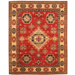 Herat Oriental Afghan Hand-knotted Tribal Kazak Wool Rug (6'7 x 8'2)
