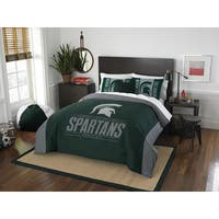 The Northwest Company COL 849 Michigan State Modern Take Full/ Queen 3-piece Comforter Set