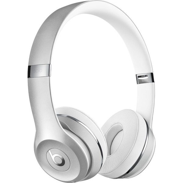 Beats by Dr. Dre Beats Solo3 Silver On-ear Cushioned Wireless Headphones. Opens flyout.