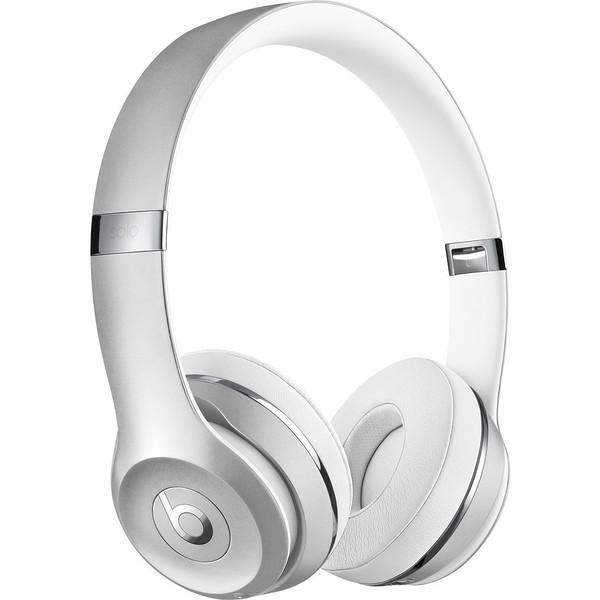 Beats by Dr. Dre Beats Solo3 Silver On-ear Cushioned Wireless Headphones. Opens flyout.