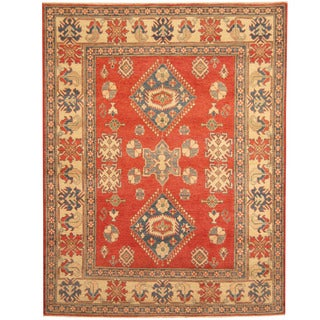 Herat Oriental Afghan Hand-knotted Tribal Kazak Wool Rug (6'4 x 8'2)