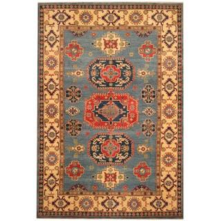 Herat Oriental Afghan Hand-knotted Tribal Kazak Wool Rug (6' x 8'9)