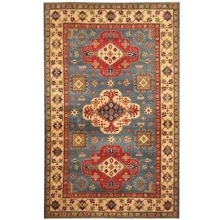 Herat Oriental Afghan Hand-knotted Tribal Kazak Wool Rug (6'2 x 9'10)