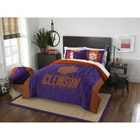The Northwest Company Clemson Modern Take Purple and Orange Polyester Full/Queen 3-piece Comforter Set