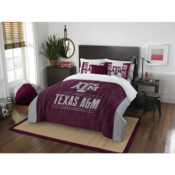 The Northwest Co COL 849 Texas A&M Aggies Modern Take Full/Queen 3-piece Comforter Set