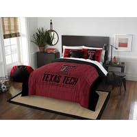 The Northwest Company COL 849 Texas Tech Modern Take Polyester Full/Queen 3-piece Comforter Set