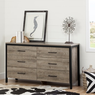 South Shore Munich Oak Laminate 6-drawer Double Dresser