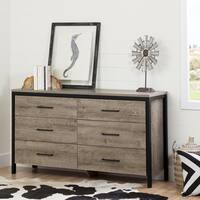 South Shore Munich Oak Laminate 6-drawer Double Dresser