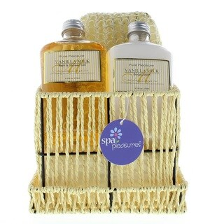 Aromatic Spa Gift Set in Corded Square Box With Lid - Clear