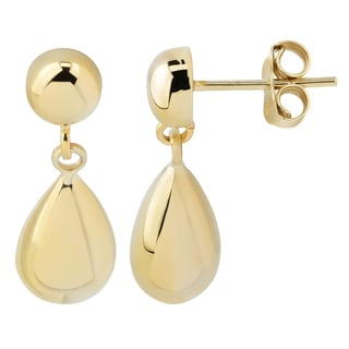 Fremada 14k Yellow Gold Small Teardrop Dangle Earrings