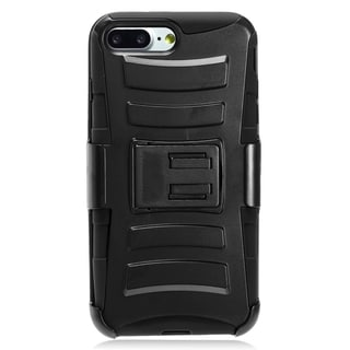 Apple iPhone 7 Plus Black TPU and PC Protective Case With Holster