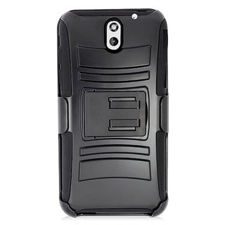 HTC Desire 610 Black Skin Hybrid Case with Holster